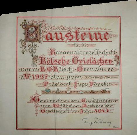 1948 - Historie der Kölsche Grielächer e.V.